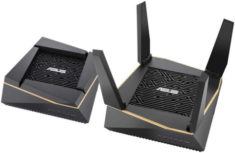 Asus RT-AX92U AX6100 Tri-Band Wi-Fi 6 Mesh Router with 802.11Ax, Lifetime Aiprotection Security by Trend Micro, Aimesh Compatible, Adaptive Qos & Parental Control, Best Router