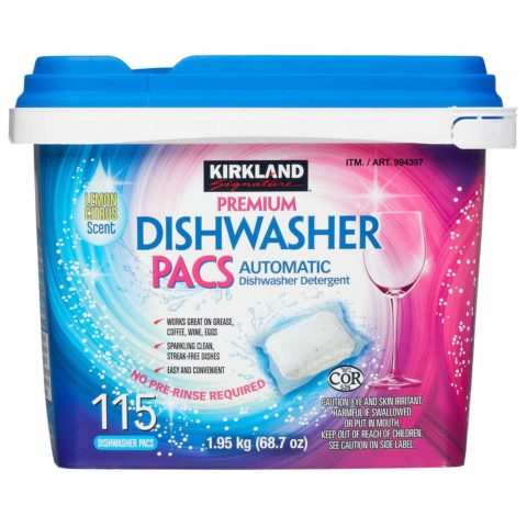 Kirkland Signature Easy to Use, Streak Free Premium Dishwasher Pacs, Automatic Dishwasher Detergent