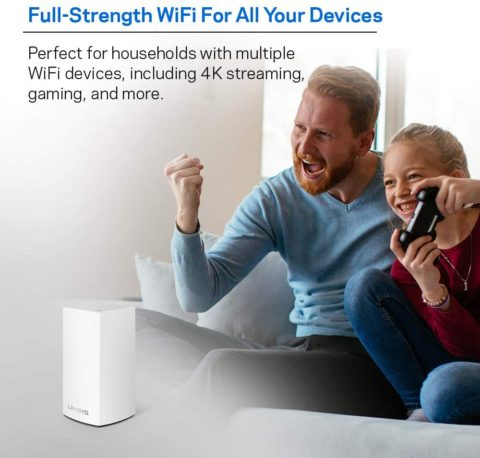 Linksys Velop Mesh Router (Home Mesh WiFi System for Whole-Home WiFi Mesh Network) 1-PackAmazonUs White, Best Cable Modems