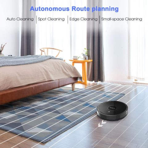 Robot Vacuum, GOOVI 1600PA Robotic Vacuum Cleaner with Self-Charging, 360° Smart Sensor Protectio, Multiple Cleaning Modes Vacuum Best for Pet Hairs