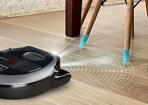 Samsung Electronics R7040 Robot Vacuum Wi-Fi Connectivity, Ideal for Carpets, Hard Floors, and Pet Hair with 3510Pa Strong Performance, Works with Amazon Alexa and the Google Assistant, Neutral Gray
