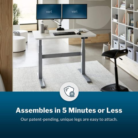 Vari Electric Standing Desk 48 - Sit to Stand Desk - 3 Button Memory Settings