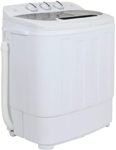 ZENY Portable Mini Twin Tub Washing Machine 13lbs Capacity with Spin Dryer,Compact Cloths Washing Machine Lightweight Small Laundry Washer for Home,Apartments, Dorm Rooms,RV's, washers and dryers