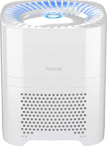hOmeLabs 3-in-1 Compact Ionic HEPA Air Purifier - Quietly Ionizes and Purifies Air to Reduce Odor and Allergies from Mold, Smoke, Dust, Pollen and Pet Dander, White