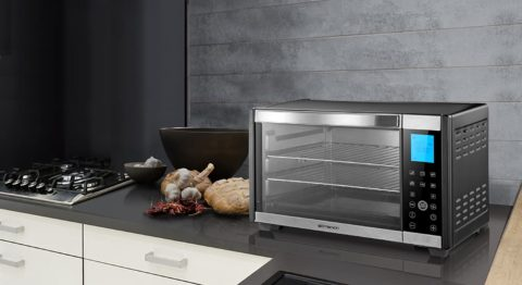 Emerson Convection & Rotisserie Countertop Toaster Oven, 6-Slice, Stainless Steel, Digital Touch Control Panel, ER101004