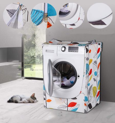 Washing Machine Cover,WasherDryer cover For Front-loading Machine Waterproof Dust-proof Thicker with Roll Edge (W27 D33 H39 in,Colorful Leaves), Best Top Load Washer Cover