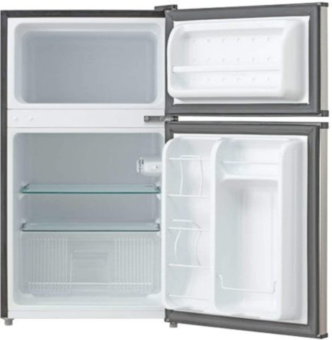 Whynter MRF-340DS 3.4 Cubic Feet Energy Star Stainless Steel Compact RefrigeratorFreezer