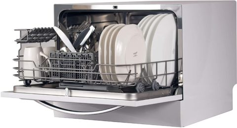 BLACK+DECKER BCD6W 6 Place Setting ENERGY STAR Portable Compact Countertop Dishwasher