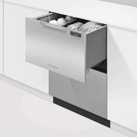 Fisher Paykel DD24DAX9N 24 Inch Drawers Full Console Dishwasher with 6 Wash Cycles, 14 Place Settings, Quick Wash, in Stainless Steel
