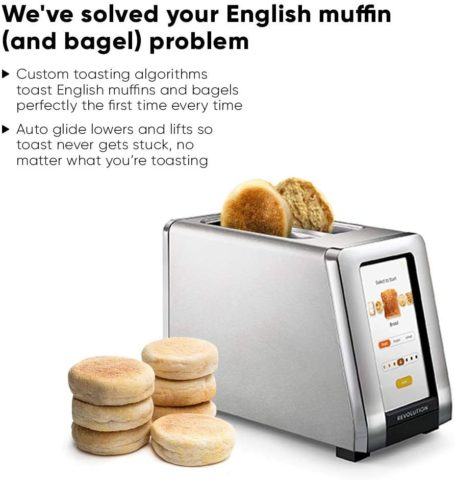 Revolution Cooking R180 High-Speed 2-Slice Stainless Steel Smart Toaster - The Only Toaster with InstaGlo™ Technology, Best Toasters