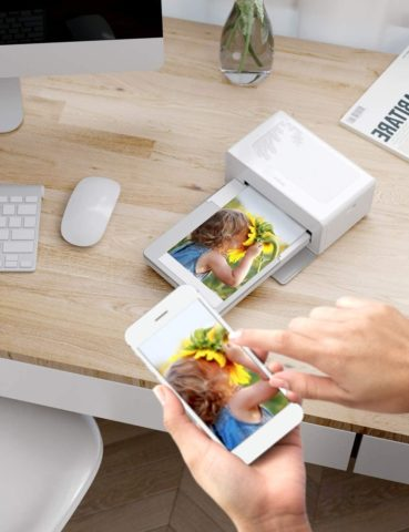 Victure Photo Printer, Instant Photo Printer to Print (4 x 6) inch Photos from Your Phone Conveniently, Come with 40 pieces of photo paper , Compatible with iOS & Android Devices