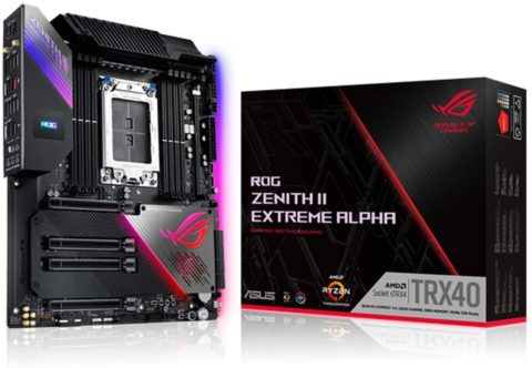 ASUS ROG Zenith II Extreme Alpha TRX40 Gaming AMD 3rd Gen Ryzen Threadripper sTRX4 EATX Motherboard with 16 Infineon Power Stages, PCIe 4.0, Wi-Fi 6 (802.11ax), USB 3.2 Gen 2x2 and Aura Sync RGB, Best AMD Motherboard