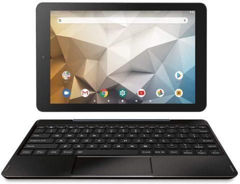 RCA Newest Best Performance Tablet Quad-Core 2GB RAM 32GB Storage IPS HD Touchscreen WiFi Bluetooth with Detachable Keyboard Android 9 Pie (10, Charcoal)